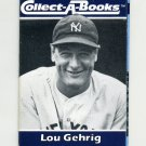 1990 Collect-A-Books Baseball #34 Lou Gehrig - New York Yankees