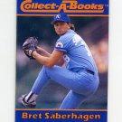 1990 Collect-A-Books Baseball #30 Bret Saberhagen - Kansas City Royals
