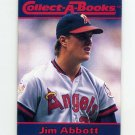 1990 Collect-A-Books Baseball #27 Jim Abbott - California Angels