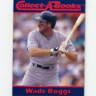 1990 Collect-A-Books Baseball #26 Wade Boggs - Boston Red Sox