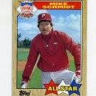 1987 Topps Baseball #597 Mike Schmidt - Philadelphia Phillies