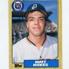 1987 Topps Traded Baseball #091T Matt Nokes RC - Detroit Tigers