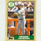 1987 Topps Traded Baseball #052T Reggie Jackson - Oakland Athletics