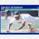 1991 Score Baseball #010 Rickey Henderson - Oakland Athletics