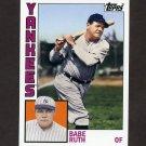 2012 Topps Archives Baseball #189 Babe Ruth - New York Yankees
