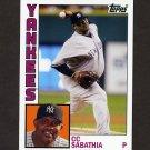 2012 Topps Archives Baseball #166 C.C. Sabathia - New York Yankees