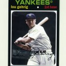 2012 Topps Archives Baseball #089 Lou Gehrig - New York Yankees