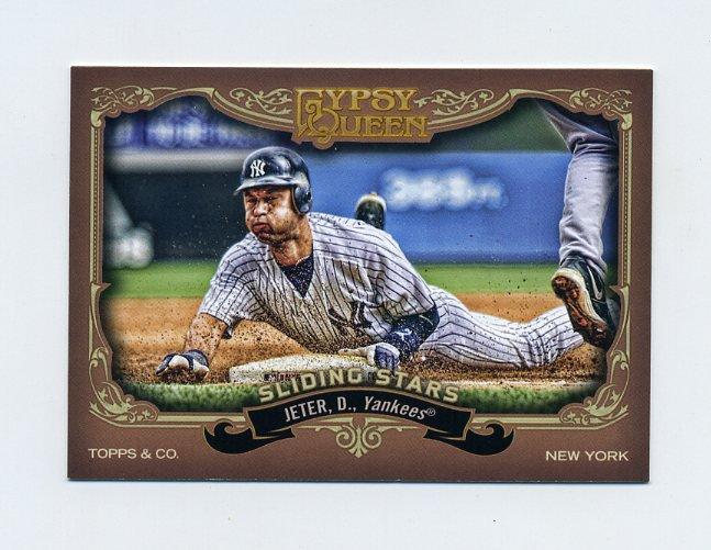 2012 Topps Gypsy Queen Sliding Stars Baseball #DJ Derek Jeter - New York Yankees