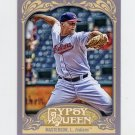 2012 Topps Gypsy Queen Baseball #274 Justin Masterson - Cleveland Indians