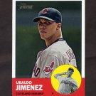 2012 Topps Heritage Baseball #227A Ubaldo Jimenez - Cleveland Indians