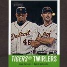 2012 Topps Heritage Baseball #218 Jose Valverde / Justin Verlander - Detroit Tigers