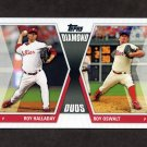 2011 Topps Diamond Duos Series 2 Baseball #DD01 Roy Halladay / Roy Oswalt - Philadelphia Phillies