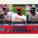 2009 Upper Deck Baseball #460 Tim Redding/Cristian Guzman/Lastings Milledge - Washington Nationals