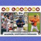 2008 Topps Baseball #322 Scott Kazmir / Johan Santana / Erik Bedard