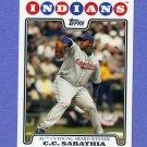 2008 Topps Baseball #275 C.C. Sabathia - Cleveland Indians