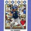 2008 Topps Baseball #193 J.J. Hardy - Milwaukee Brewers