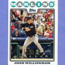 2008 Topps Baseball #089 Josh Willingham - Florida Marlins