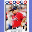 2008 Topps Baseball #069 Bobby Cox MG - Atlanta Braves
