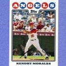 2008 Topps Baseball #013 Kendry Morales - Los Angeles Angels