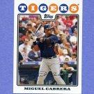 2008 Topps Baseball #010 Miguel Cabrera - Detroit Tigers