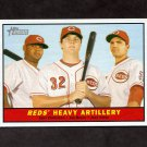 2010 Topps Heritage Baseball #025 Juan Francisco / Jay Bruce / Joey Votto - Cincinnati Reds