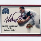 2000 Greats of the Game Baseball #091 Davey Johnson - Baltimore Orioles AUTO