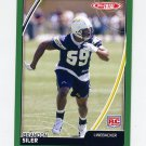 2007 Topps Total Football #518 Brandon Siler RC - San Diego Chargers