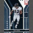 2004 Donruss Elite Football #010 Ray Lewis - Baltimore Ravens