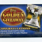 2012 Topps Golden Giveaway Code Cards #GGC08 Roberto Clemente - Pittsburgh Pirates