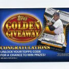 2012 Topps Golden Giveaway Code Cards #GGC07 Willie Mays - San Francisco Giants