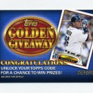 2012 Topps Golden Giveaway Code Cards #GGC03 Miguel Cabrera - Detroit Tigers