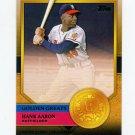 2012 Topps Golden Greats Baseball #GG51 Hank Aaron - Milwaukee Braves