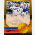 2012 Topps Golden Greats Baseball #GG46 Sandy Koufax - Los Angeles Dodgers