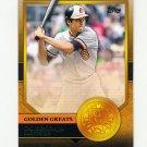 2012 Topps Golden Greats Baseball #GG43 Cal Ripken Jr. - Baltimore Orioles