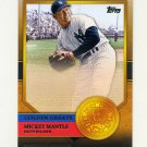 2012 Topps Golden Greats Baseball #GG34 Mickey Mantle - New York Yankees