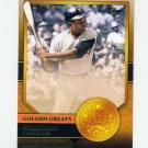 2012 Topps Golden Greats Baseball #GG13 Willie Mays - San Francisco Giants
