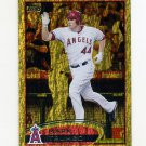 2012 Topps Gold Sparkle Baseball #281 Mark Trumbo - Los Angeles Angels