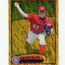 2012 Topps Gold Sparkle Baseball #075 Jordan Zimmermann - Washington Nationals