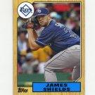 2012 Topps 1987 Topps Minis Baseball #TM41 James Shields - Tampa Bay Rays