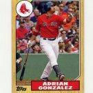 2012 Topps 1987 Topps Minis Baseball #TM33 Adrian Gonzalez - Boston Red Sox