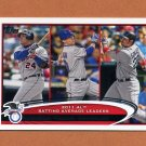 2012 Topps Baseball #239 Miguel Cabrera / Michael Young / Adrian Gonzalez