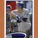 2012 Topps Baseball #219 Jordan Pacheco RC - Colorado Rockies