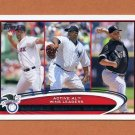 2012 Topps Baseball #212 Tim Wakefield / C.C. Sabathia / Mark Buehrle