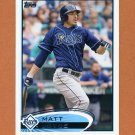 2012 Topps Baseball #196 Matt Joyce - Tampa Bay Rays