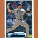 2012 Topps Baseball #048 Wade Davis - Tampa Bay Rays