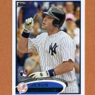 2012 Topps Baseball #009 Jesus Montero RC - New York Yankees