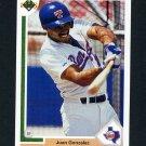1991 Upper Deck Baseball #646 Juan Gonzalez - Texas Rangers