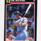 1991 Score Baseball #324 Mark McGwire - Oakland Athletics