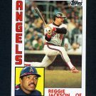 1984 Topps Baseball #100 Reggie Jackson - California Angels
