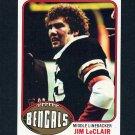 1976 Topps Football #052 Jim LeClair RC - Cincinnati Bengals